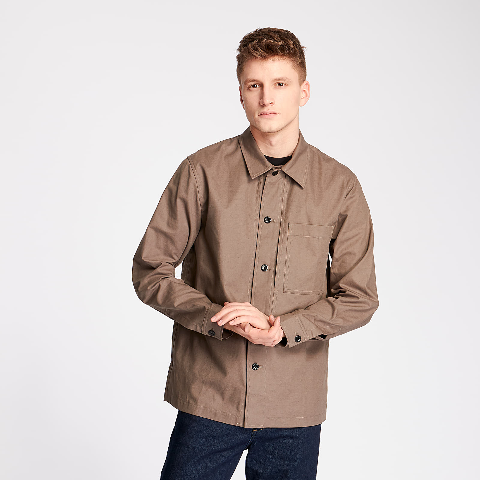 Shirts Norse Projects Kyle Cotton Linen Overshirt Taupe