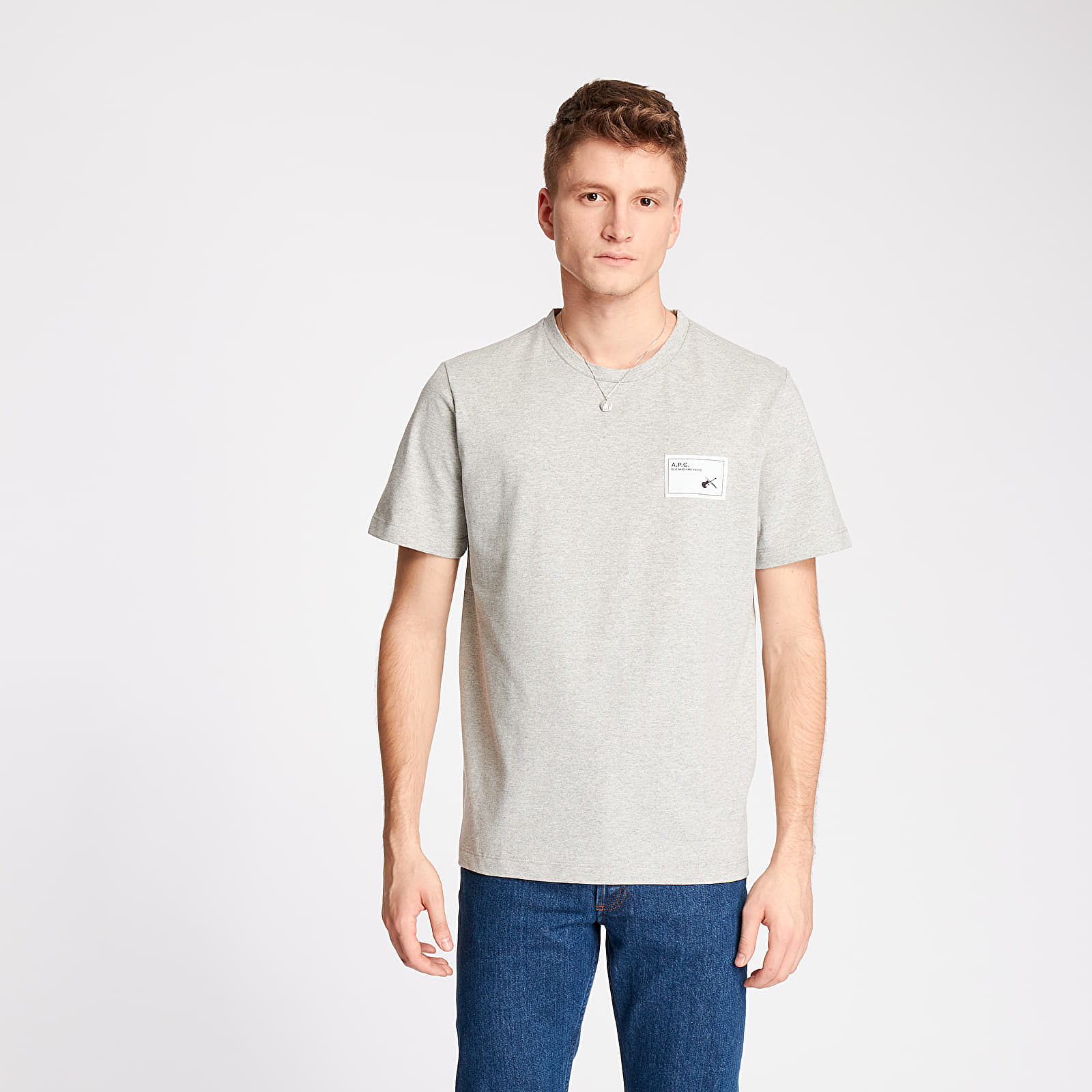Тениски A.P.C. Pepper Tee Gris Chine