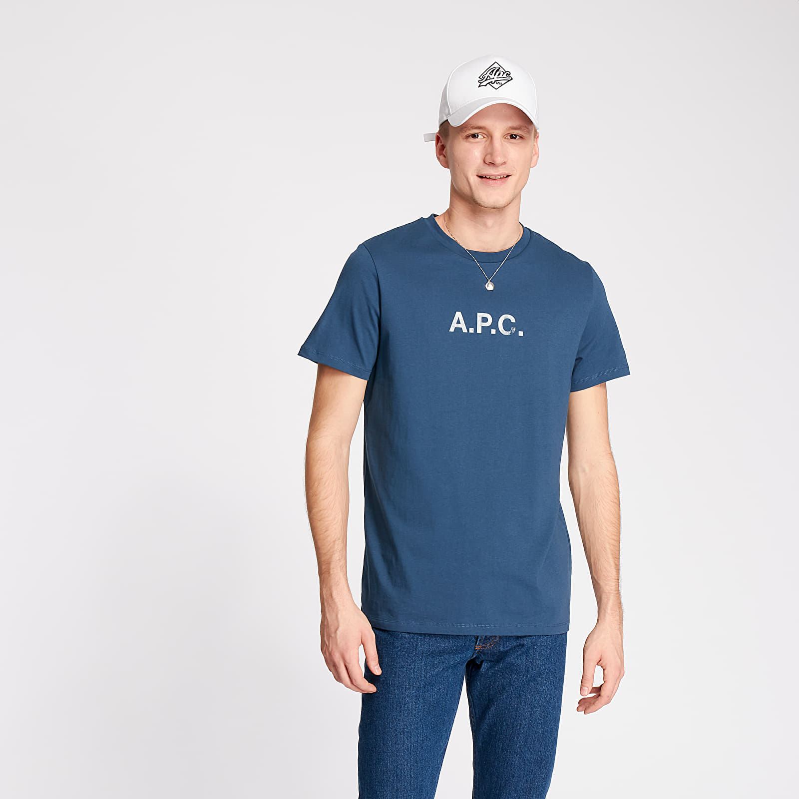 T-shirts A.P.C. Stamp Tee Blue