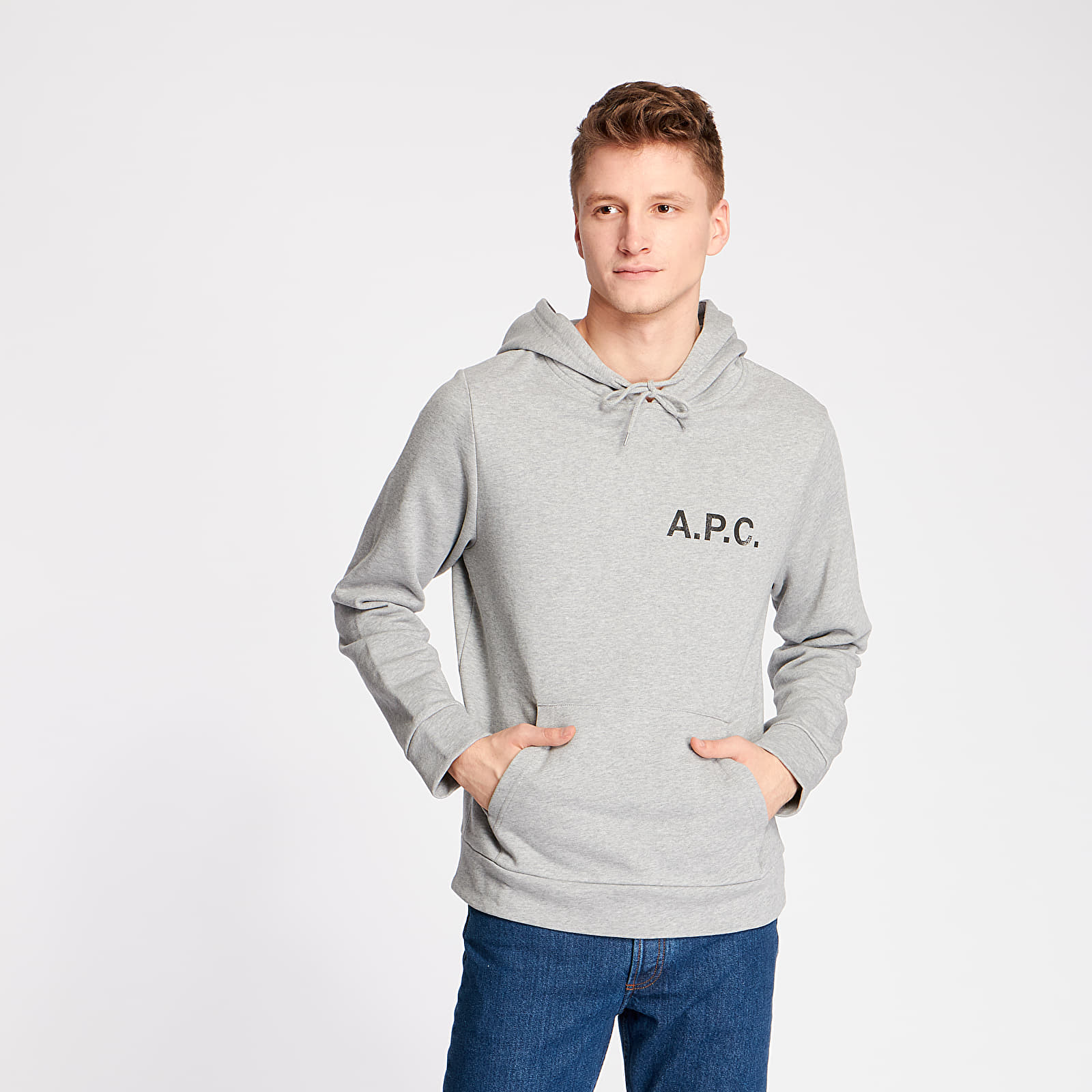Sweatshirts A.P.C. Stamp Hoodie Gris Chine