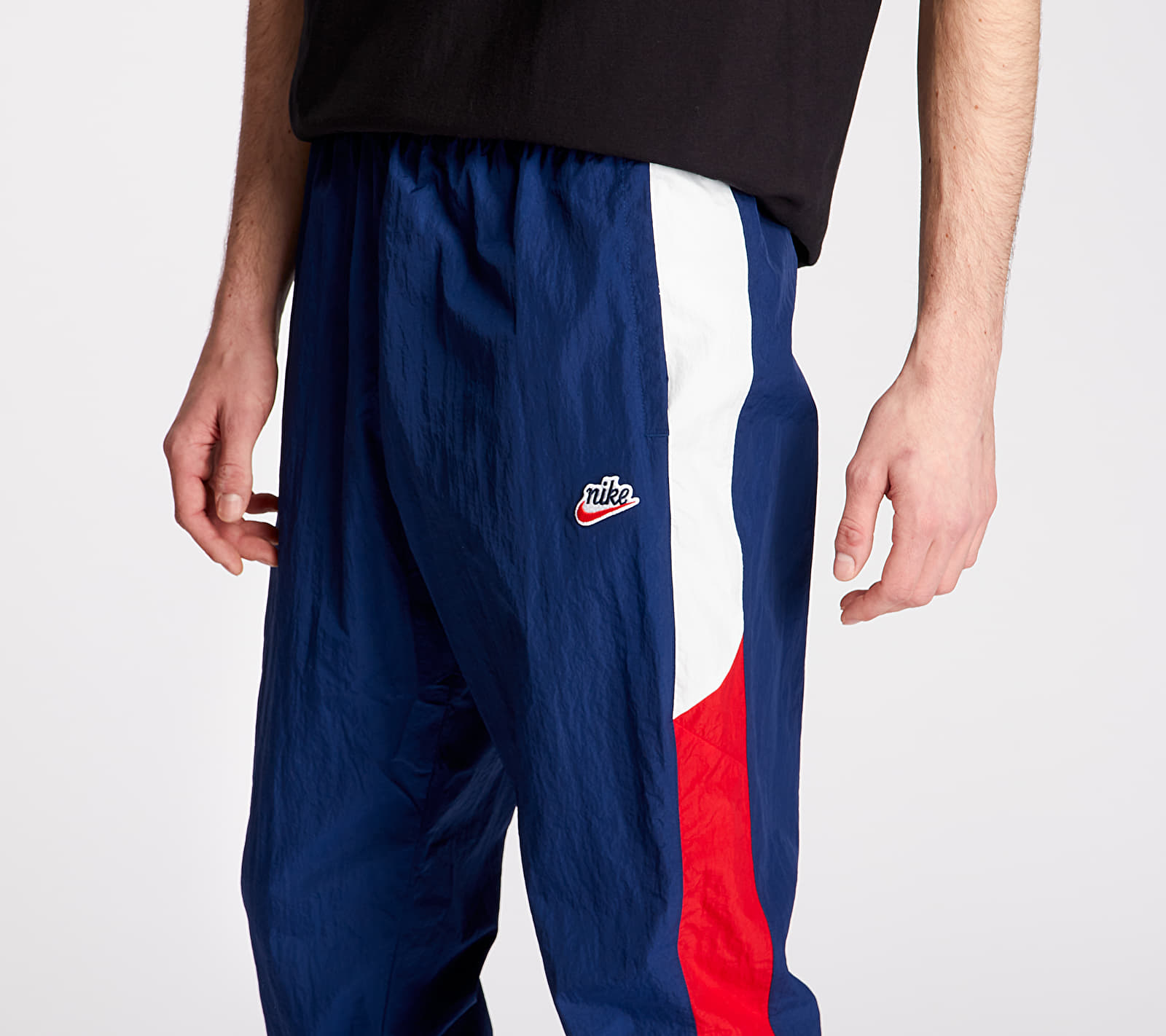 Nike Sportswear HE Wr Woven Signature Pants Blue Void/ University Red/ Summit White