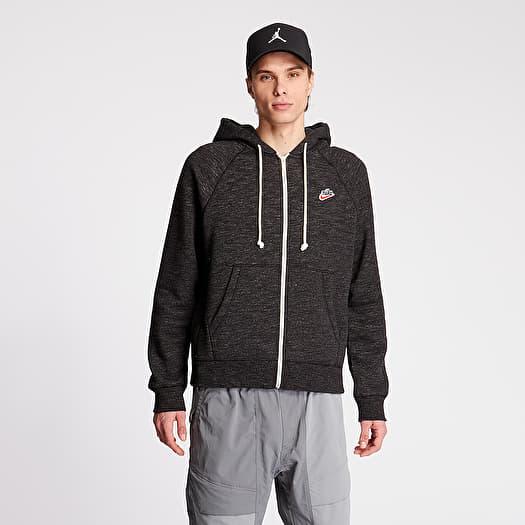 Nike Sportswear Heritage Fullzip SB Hoodie Black Grey Heater | Footshop