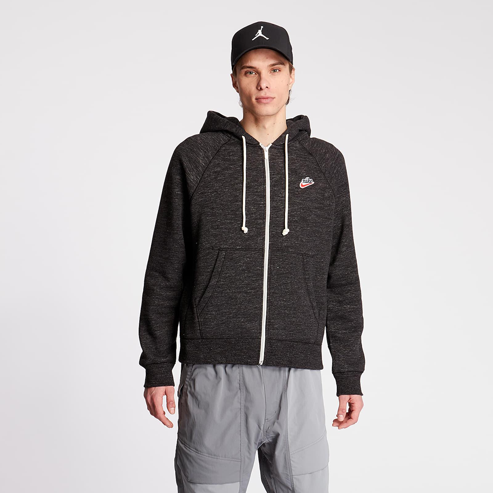 Sweatshirts Nike Sportswear Heritage Fullzip SB Hoodie Black/ Grey Heater