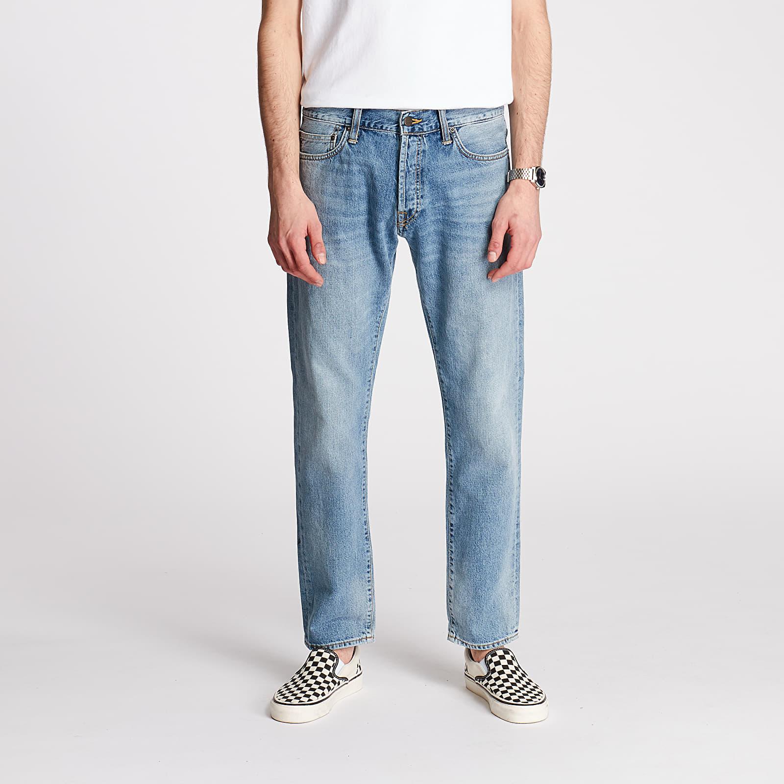 Džíny a kalhoty Carhartt WIP Klondike Pants Blue