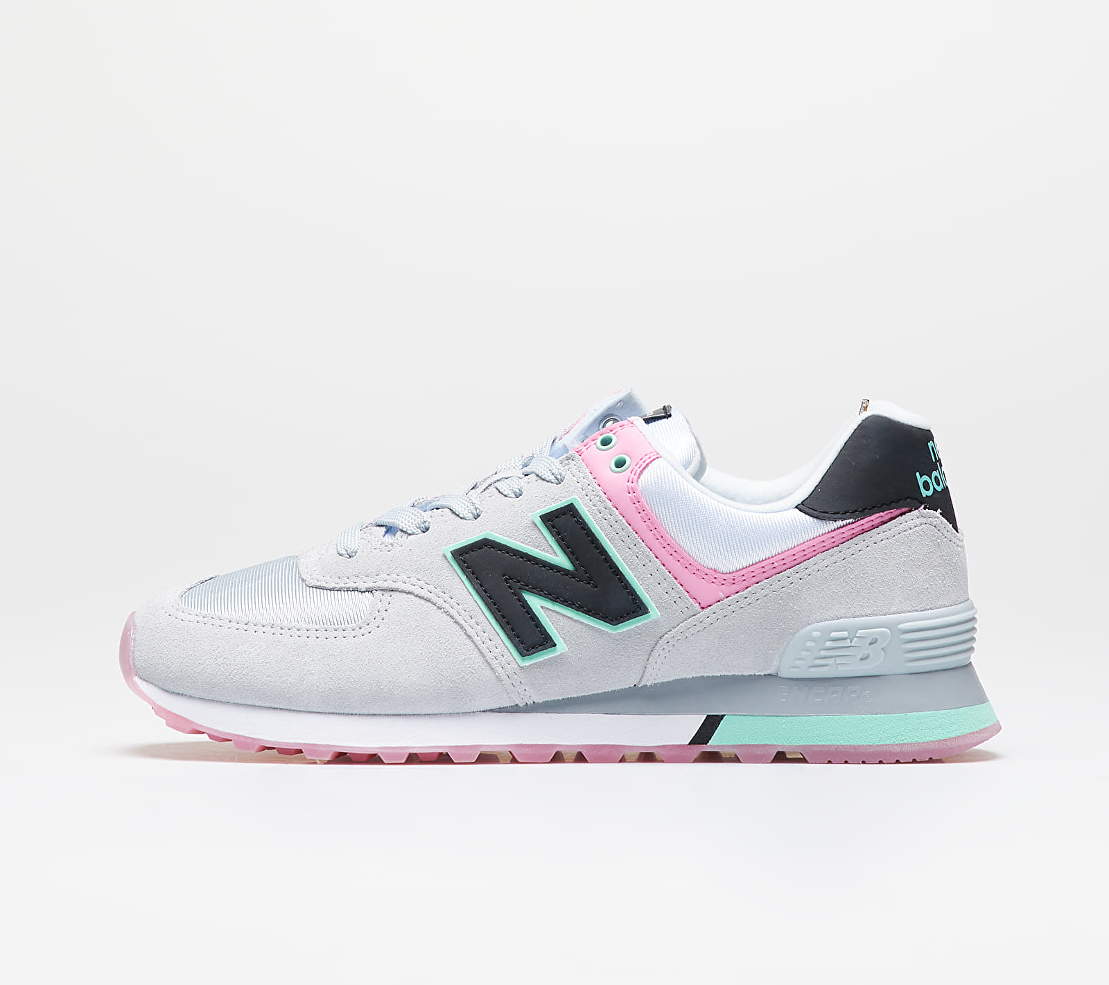 New Balance 574 Grey/ Pink, Multicolour
