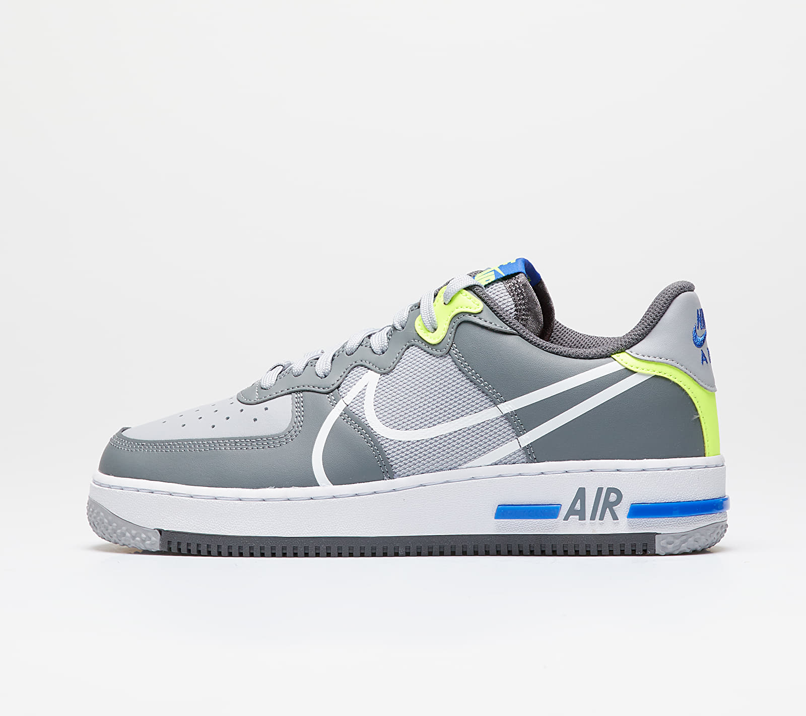 Nike Air Force 1 React Wolf Grey/ White-Smoke Grey-Dark Grey EUR 44
