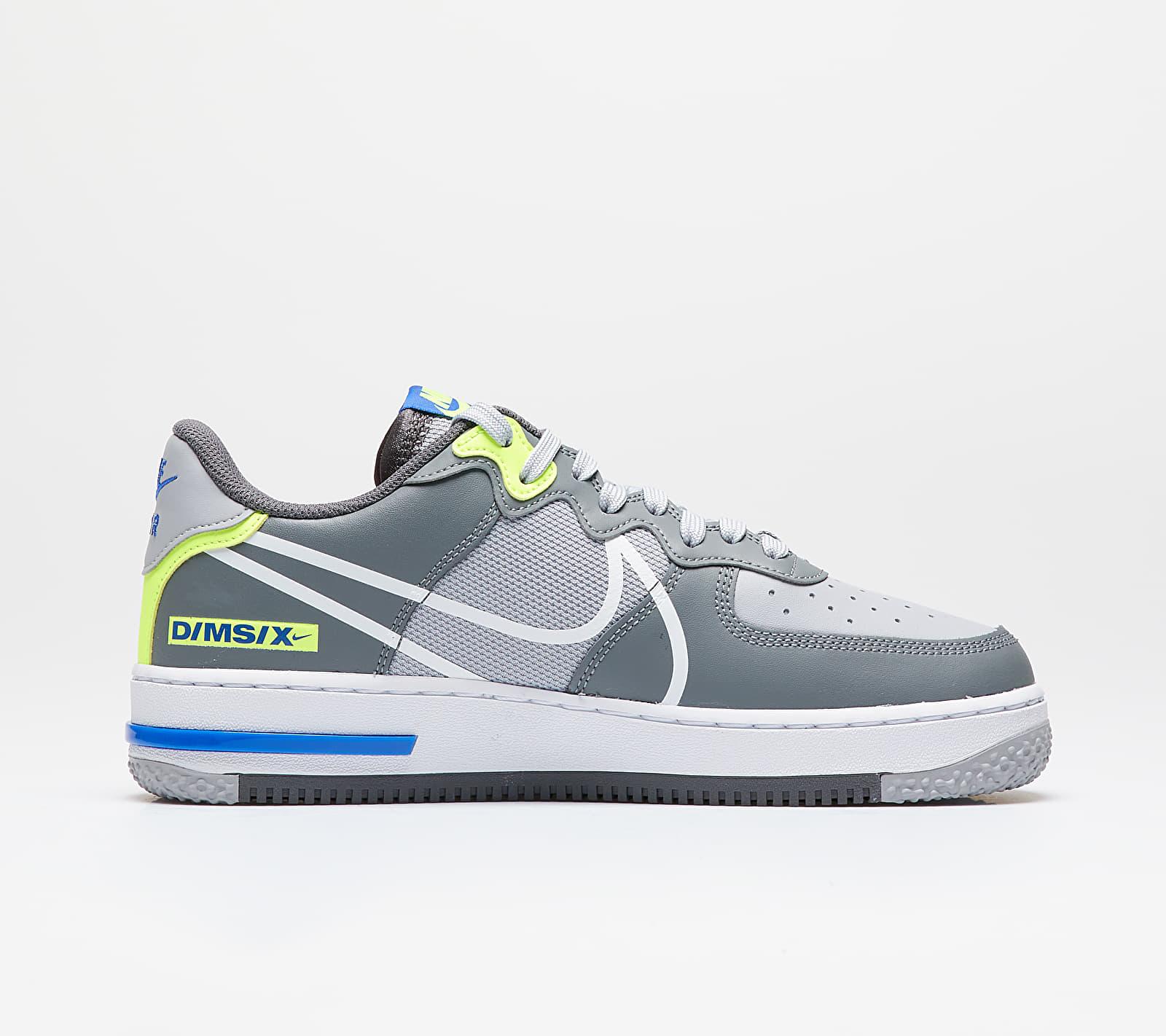 Nike Air Force 1 React Wolf Grey/ White-Smoke Grey-Dark Grey, Gray