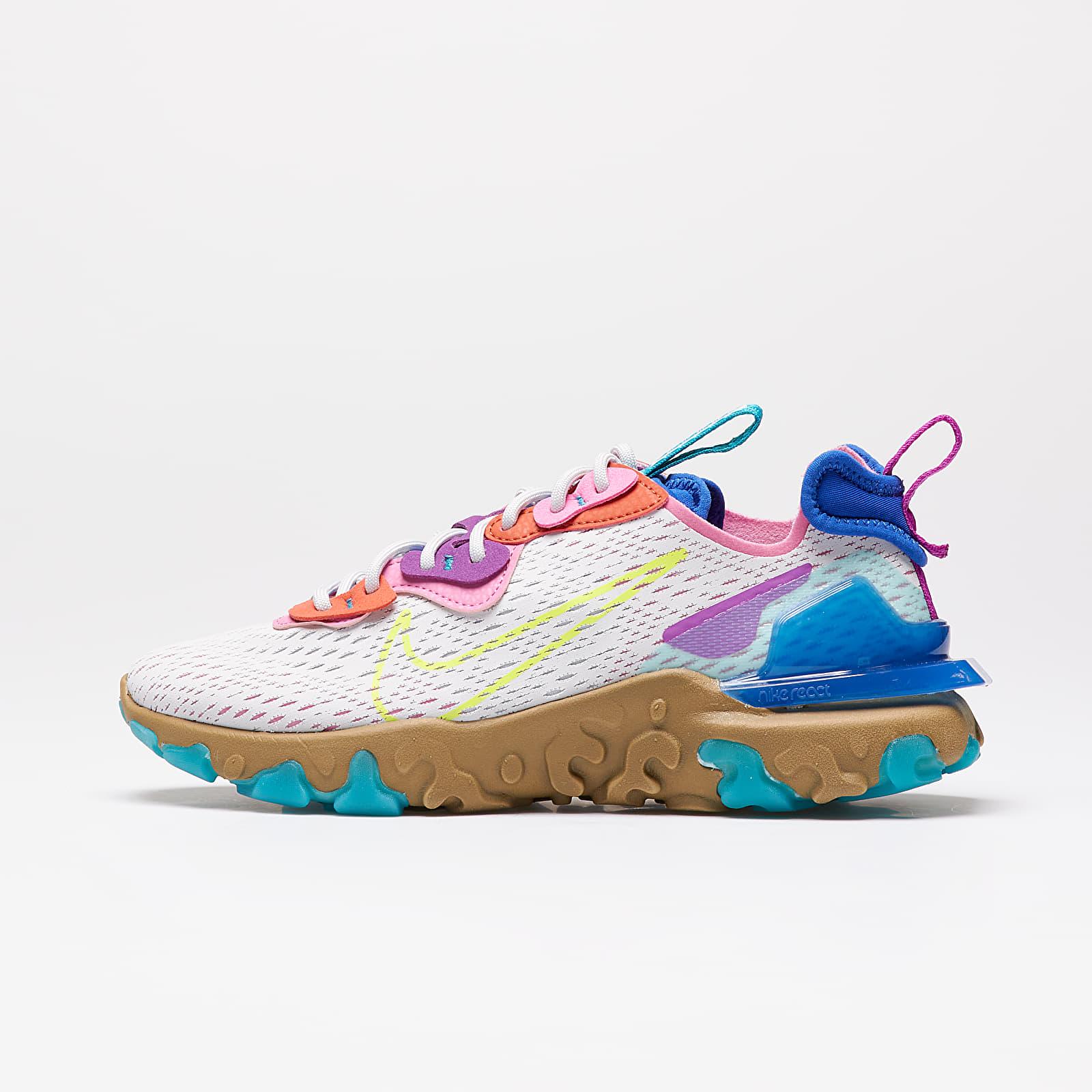 Încălțăminte și sneakerși pentru femei Nike W Nsw React Vision Photon Dust/ Lemon Venom-Hyper Blue