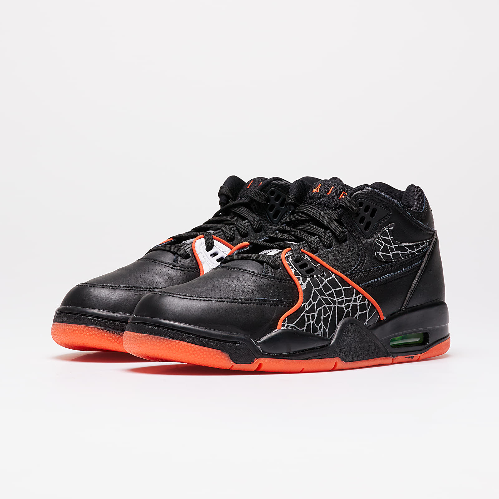Nike Air Flight 89 QS Black Orange Blaze Green Strike White | Footshop