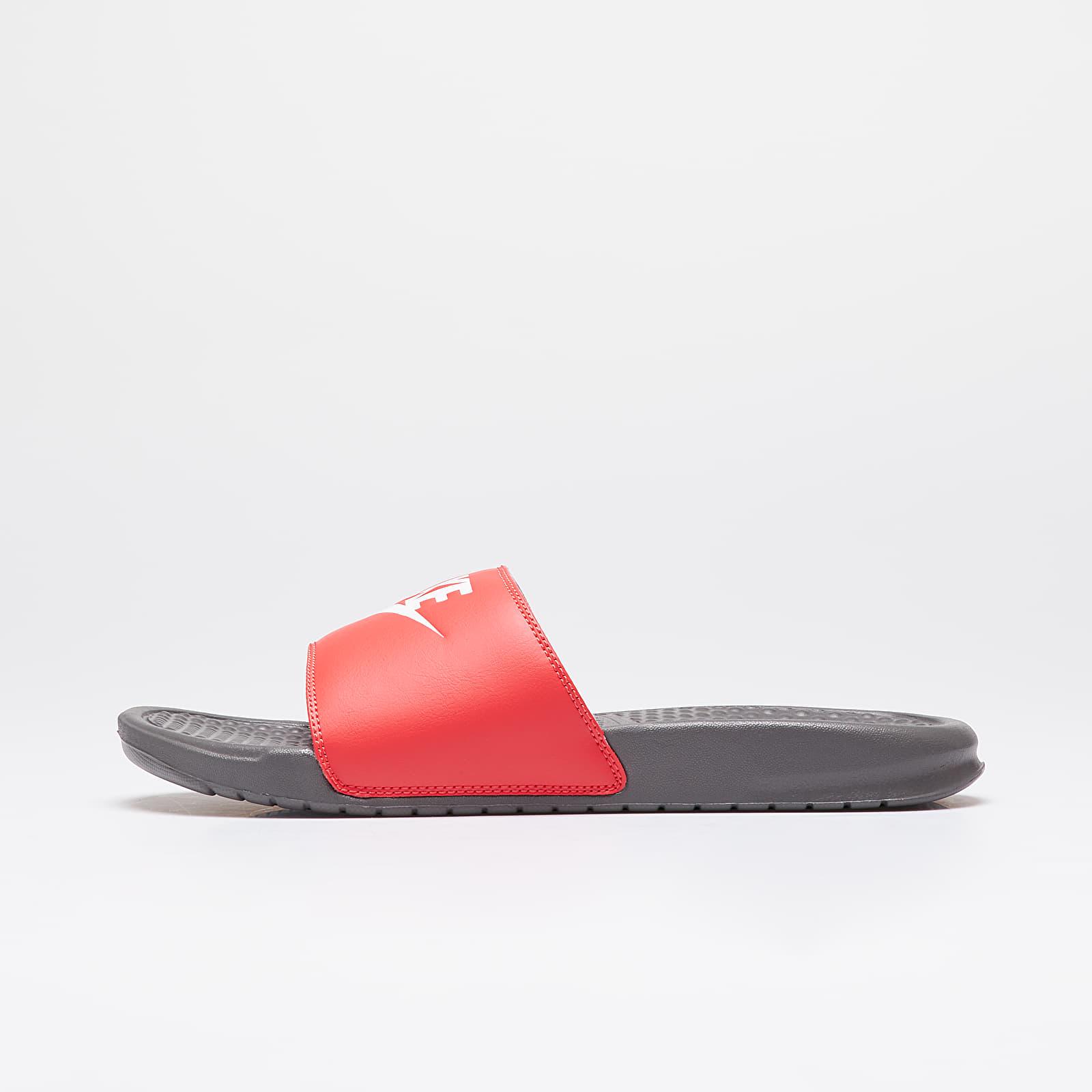 Pánské tenisky a boty Nike Benassi Jdi Iron Grey/ White-Track Red