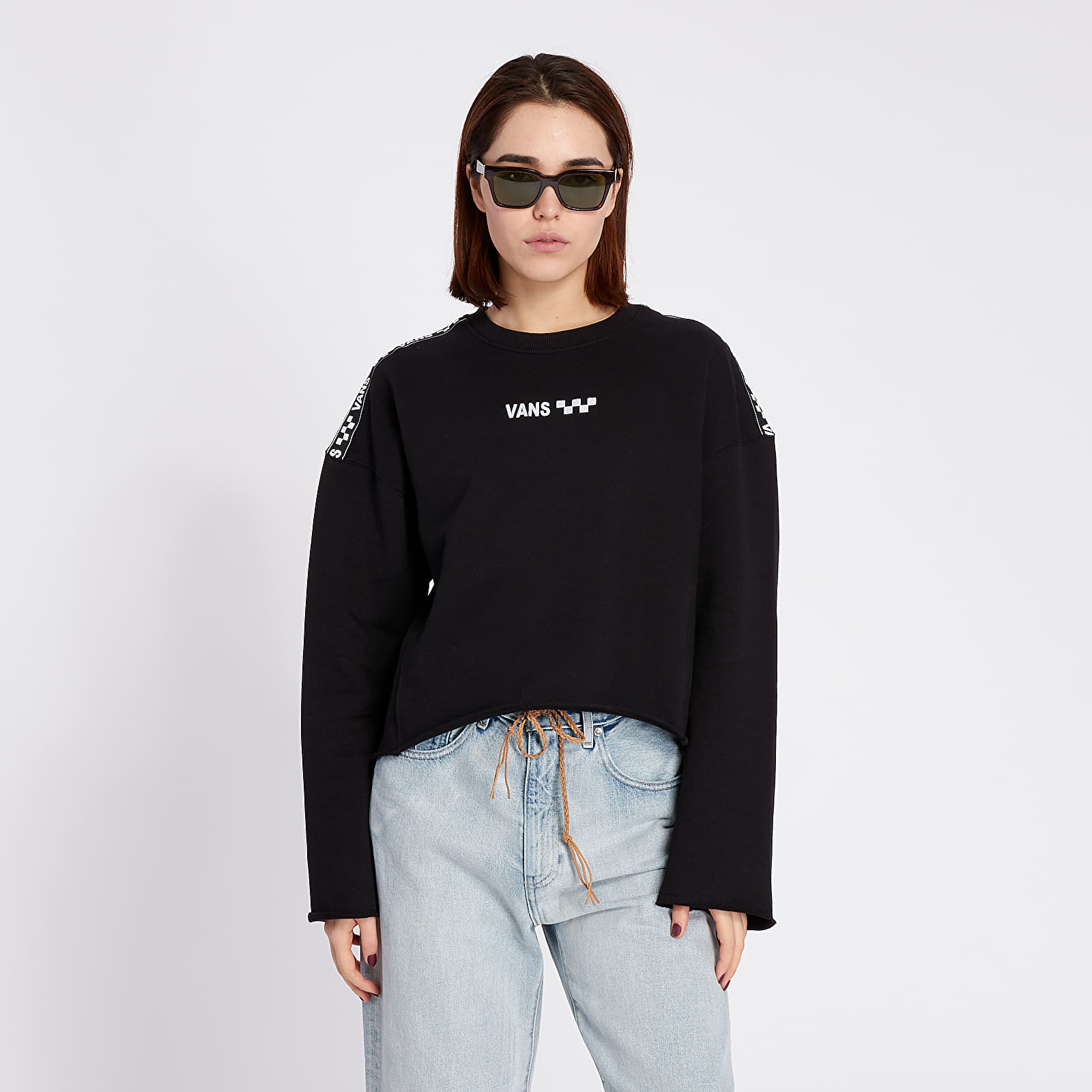 Sweatshirts Vans Brand Striper Crewneck Black