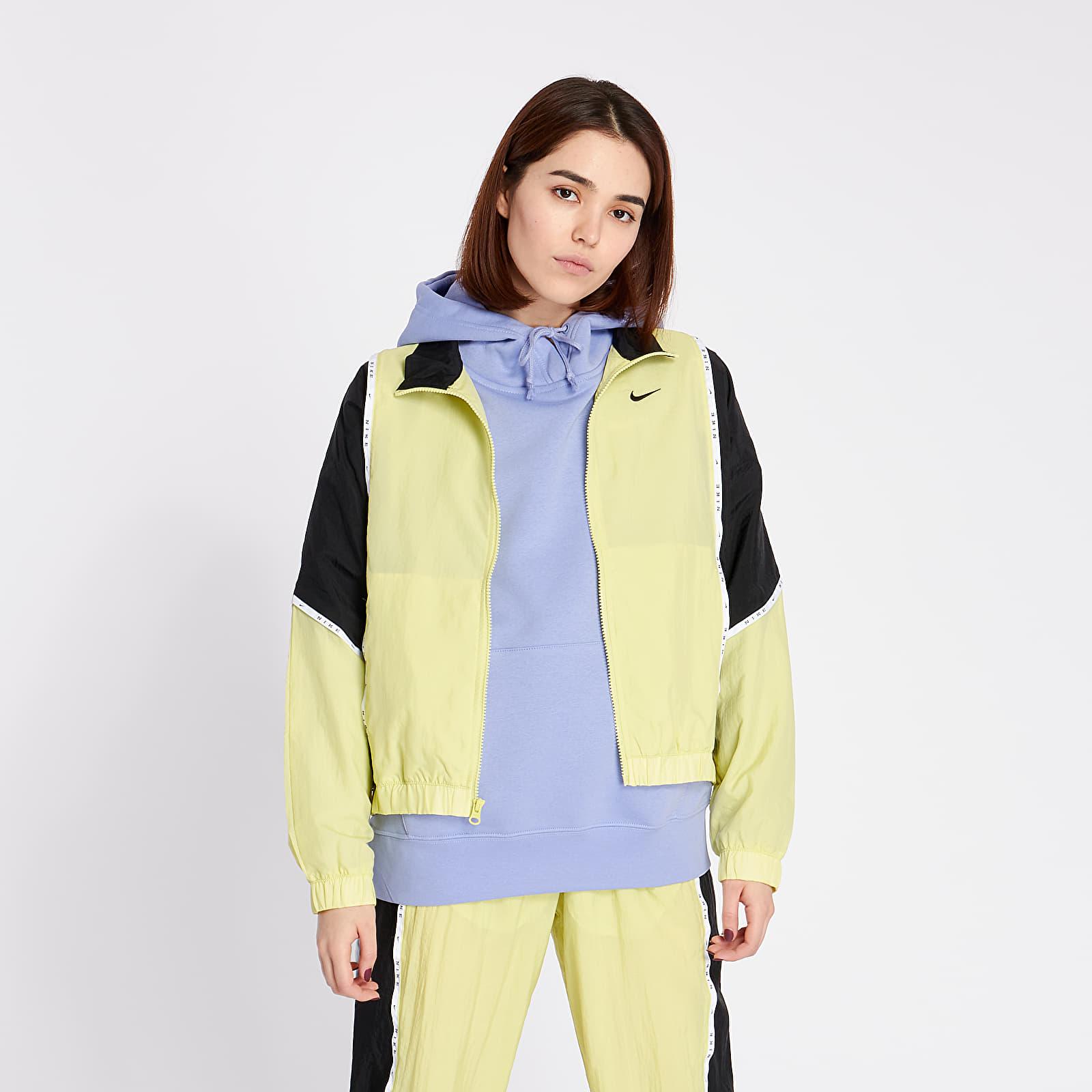 Übergangsjacken Nike Sportswear Woven Piping Jacket Limelight/ Black/ Black