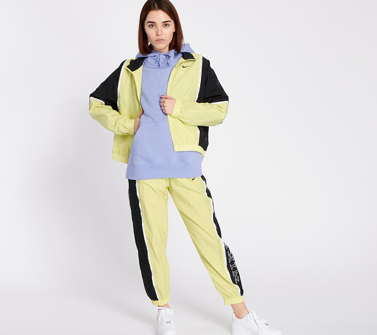 Nike Sportswear Woven Piping Jacket Limelight/ Black/ Black, Yellow