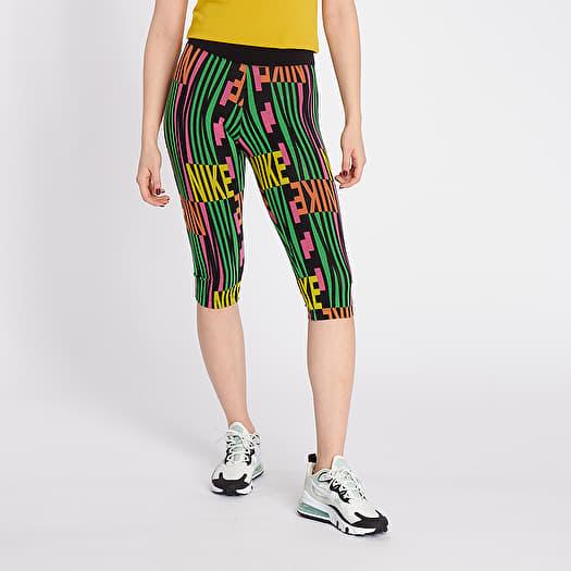 Drástico escritura Jugando ajedrez  Pants and jeans Nike Sportswear Leggings Peace Pack Capri Black/ Green  Spark   Footshop