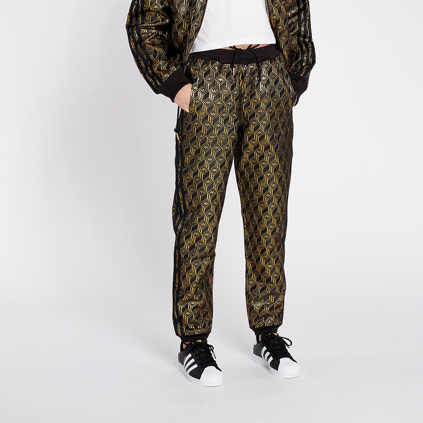 Nadrágok adidas Premium Superstar Trackpants Black/ Golden Metallic