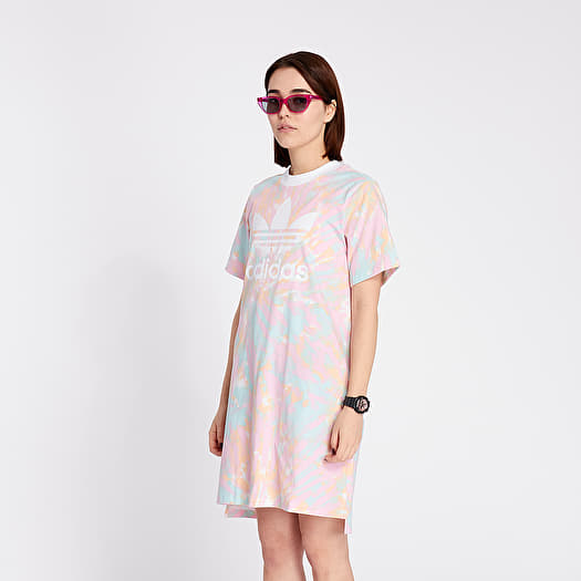 Skalk sociedad becerro  Dress adidas Tee Dress Multicolor/ White/ True Pink | Footshop