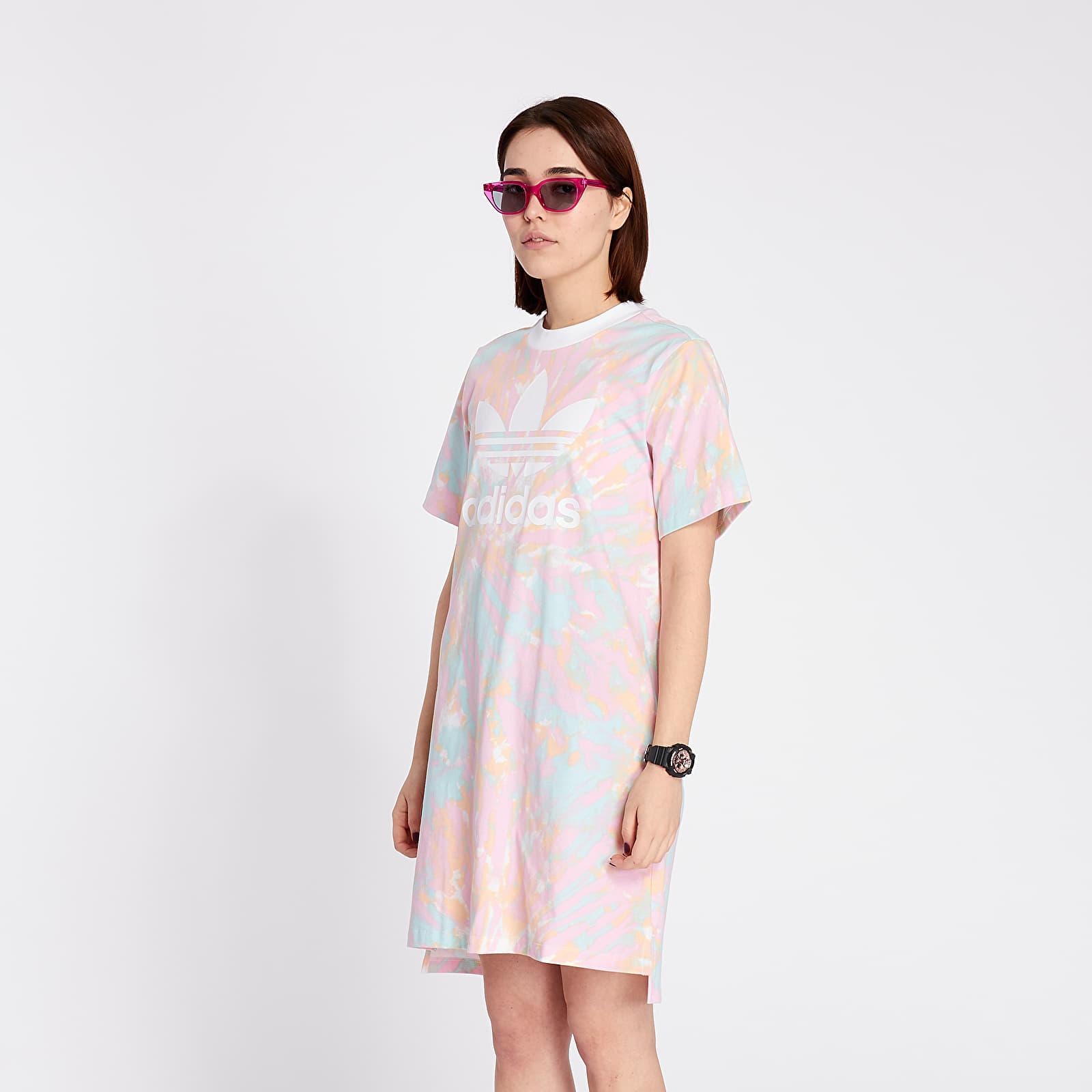 adidas tee dress multicolor/ white/ true pink | footshop