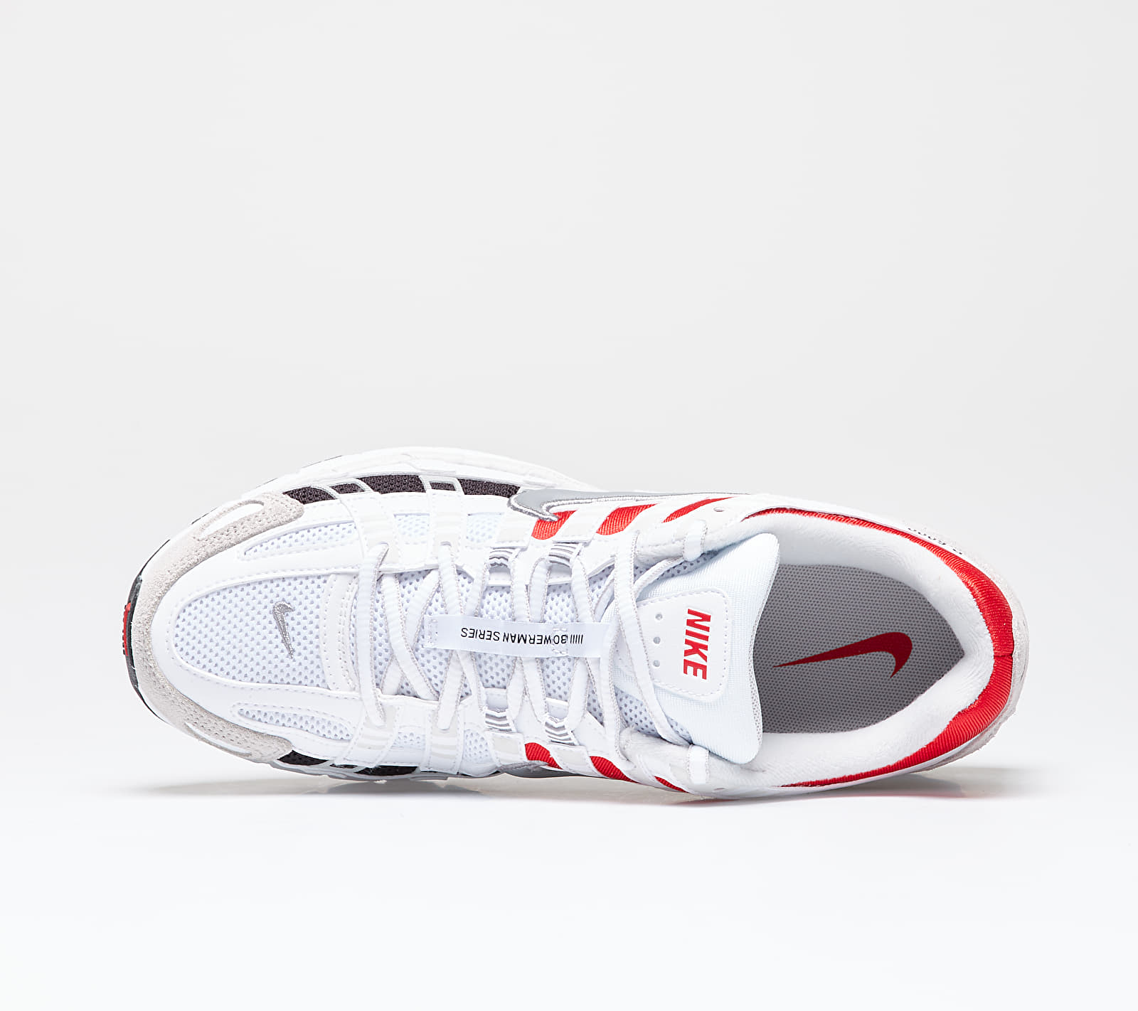 Nike P-6000 White/ Particle Grey-University Red