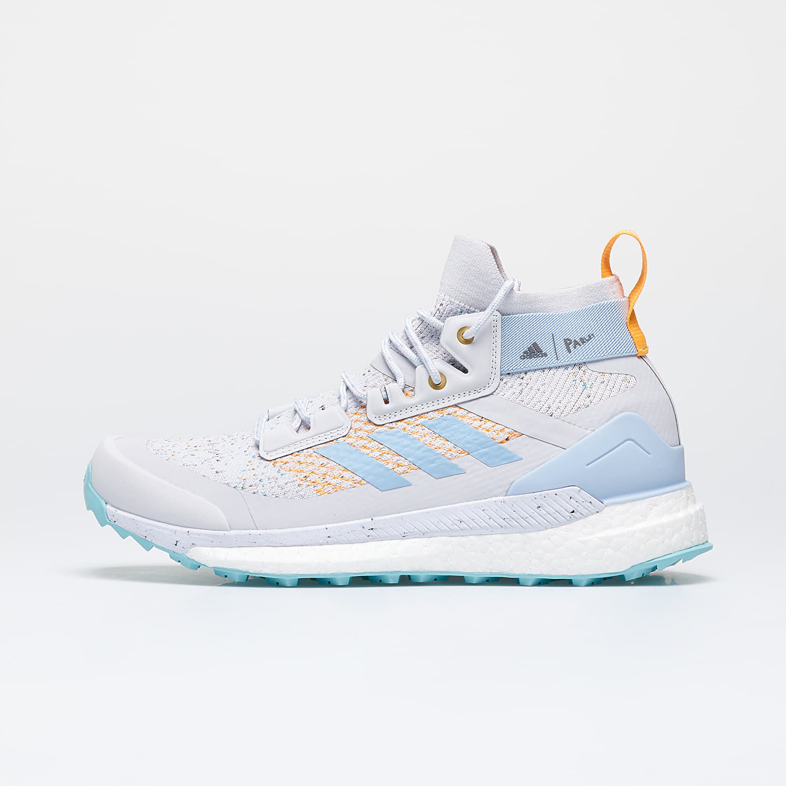Mid top sneakers and shoes adidas x PArley Terrex Free Hiker W Dash Grey/ Easy Blue/ Real Gold