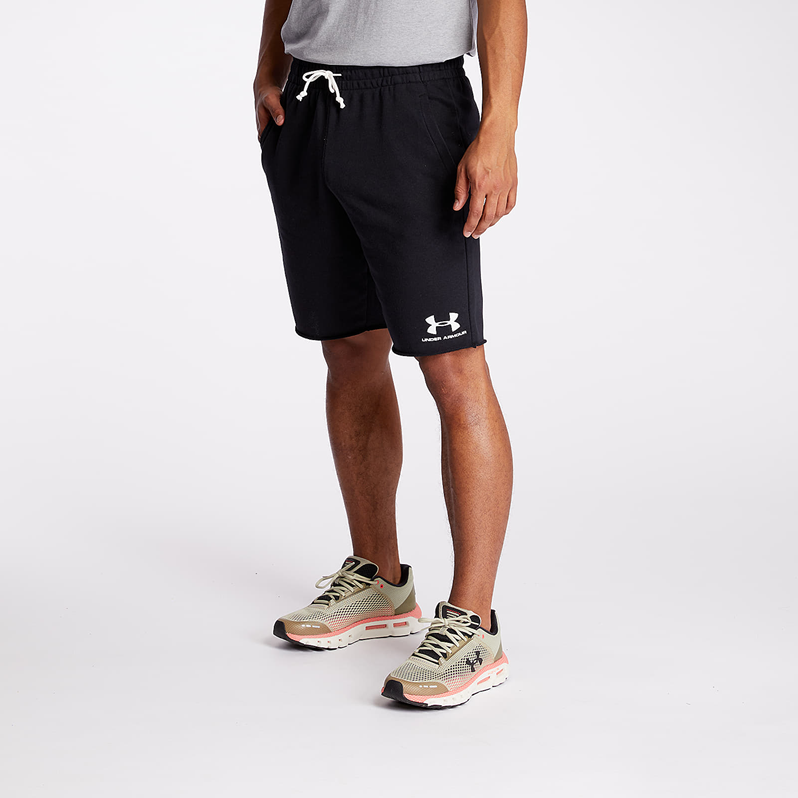 Shorts Under Armour Sportstyle Terry Shorts Black/ Onyx White