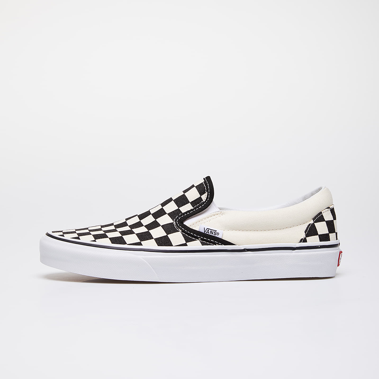 Herren Sneaker und Schuhe Vans Classic Slip-On Black & White Checkerboard/ White