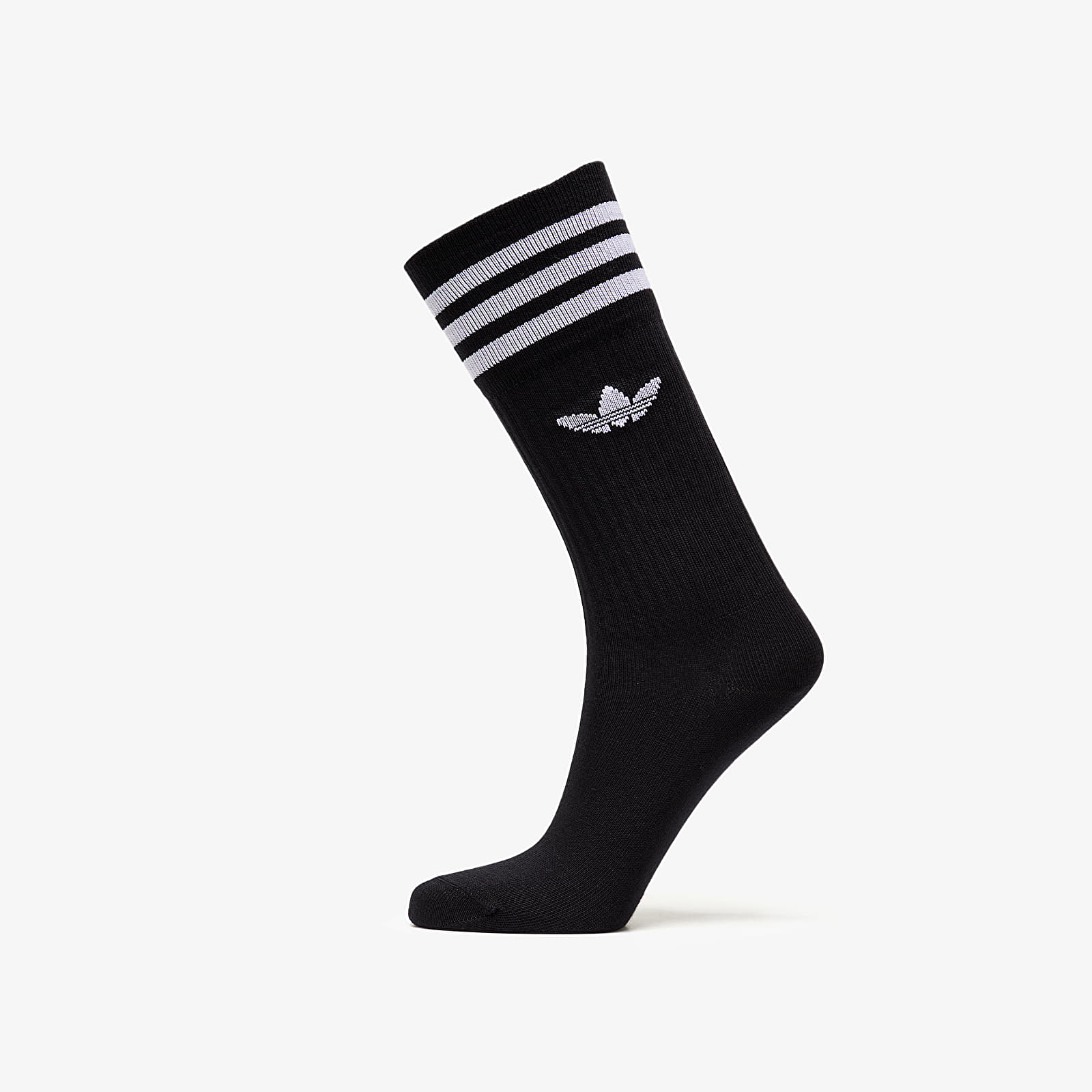 Чорапи adidas Solid Crew Sock 3 Pack Black/ White