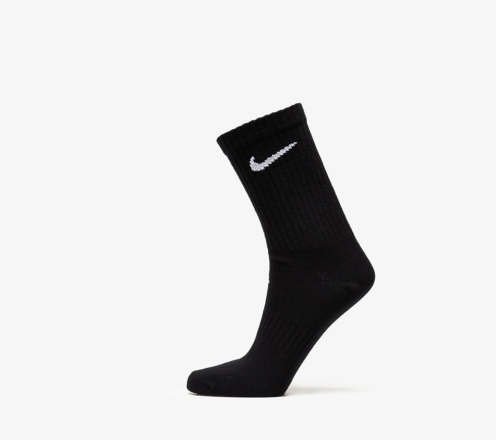 Nike 3 Pack Everyday Lightweight Crew Socks Black EUR 46-50