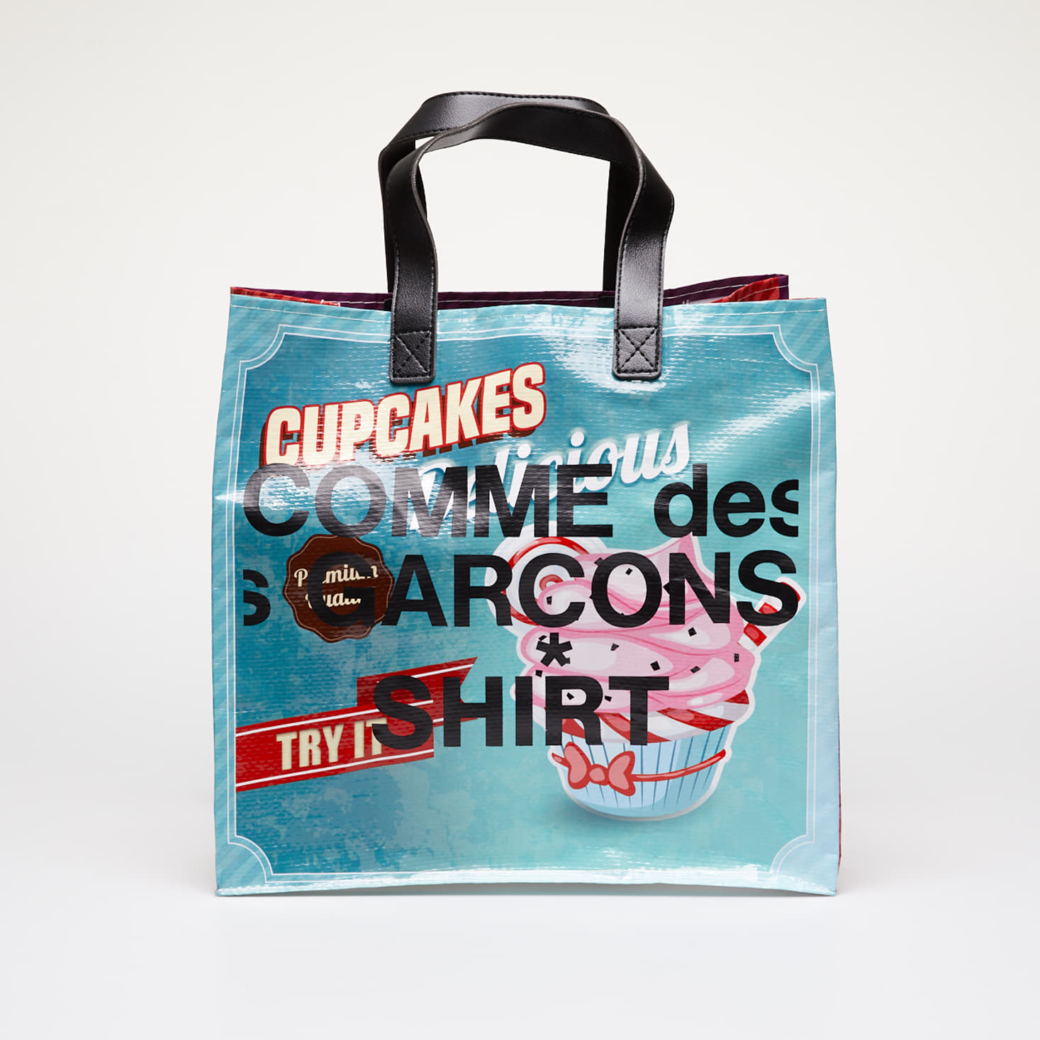 Bags Comme des Garçons SHIRT Printed Shopping Tote Bag Multicolor