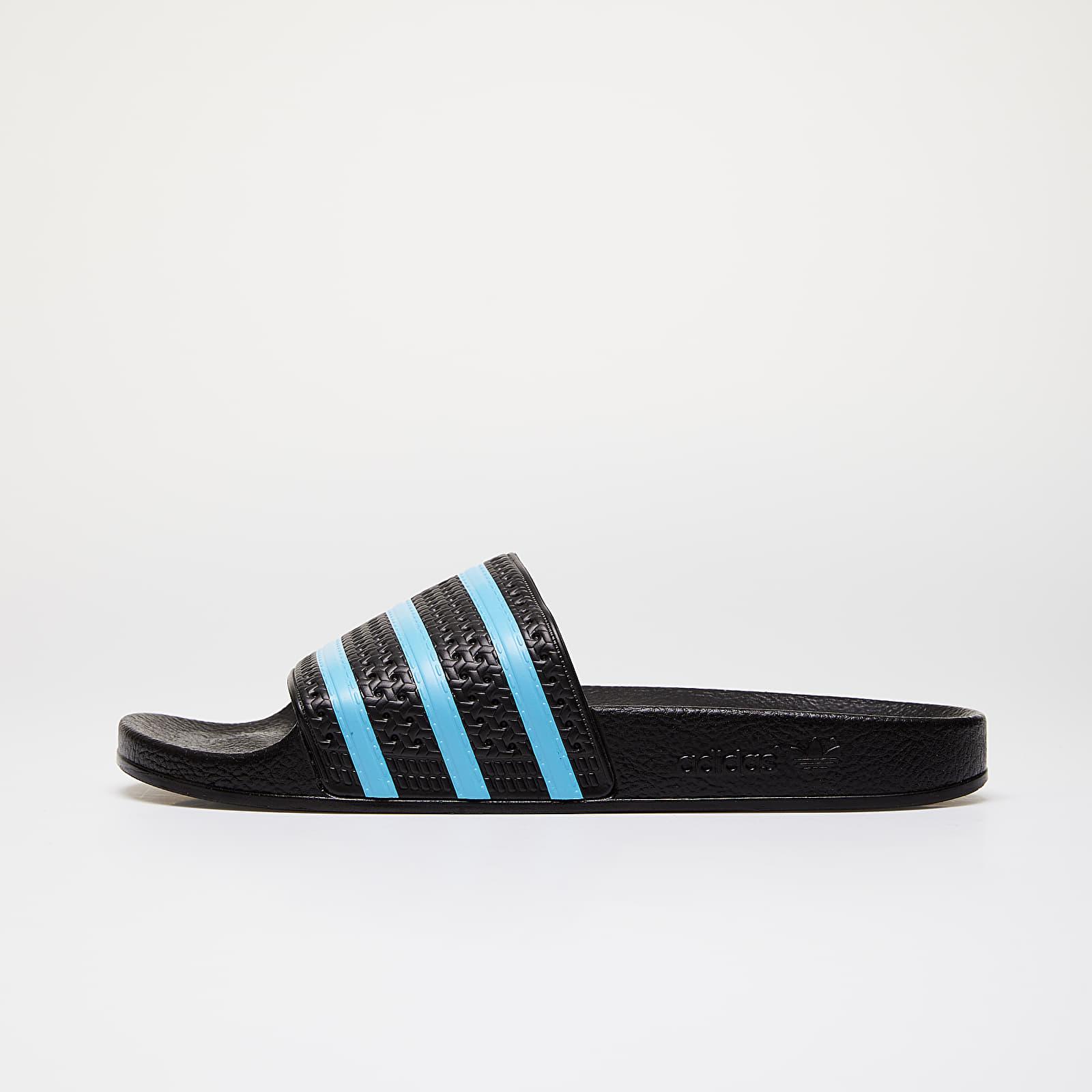adidas Adilette Core Black Blue Glow Core Black
