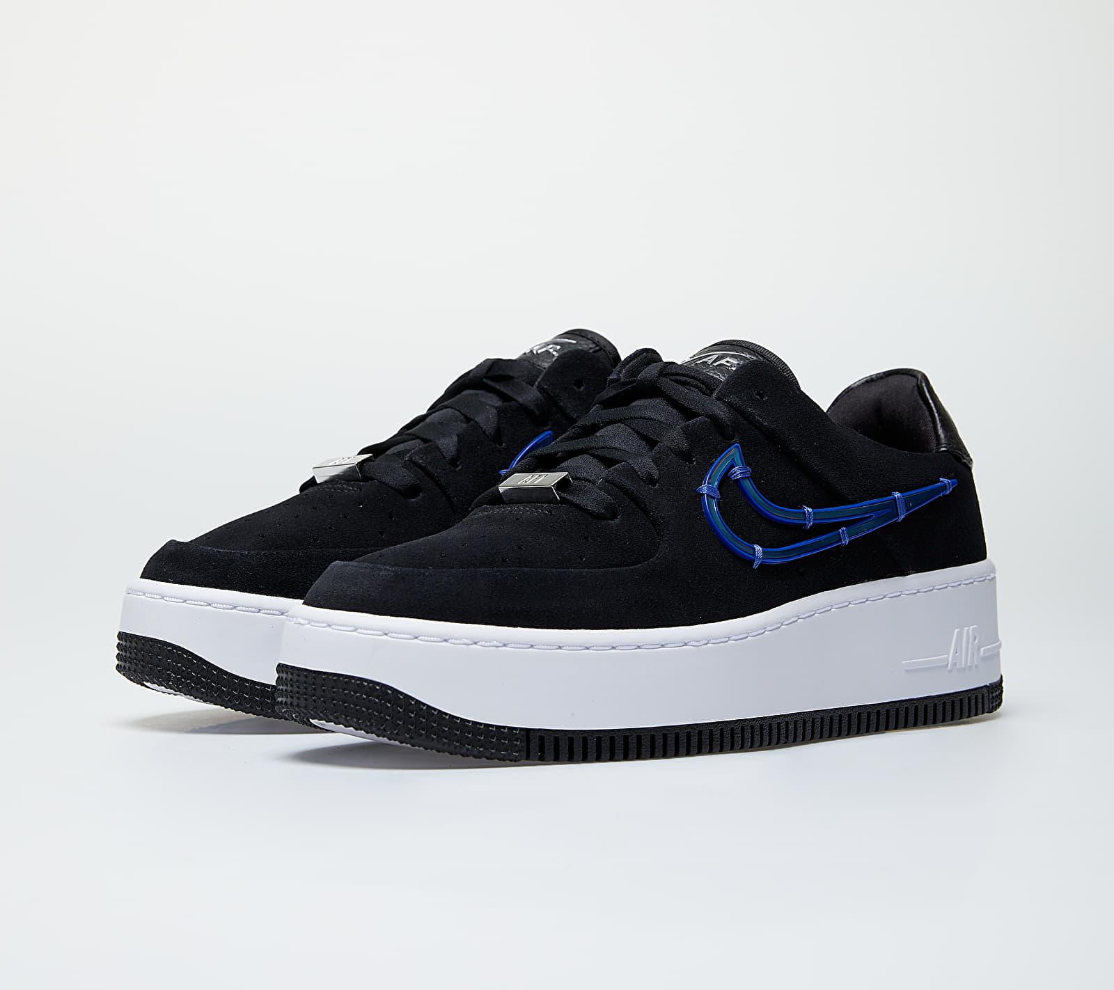 Nike W Air Force 1 Sage Low LX Black/ Deep Royal Blue-Metallic Silver
