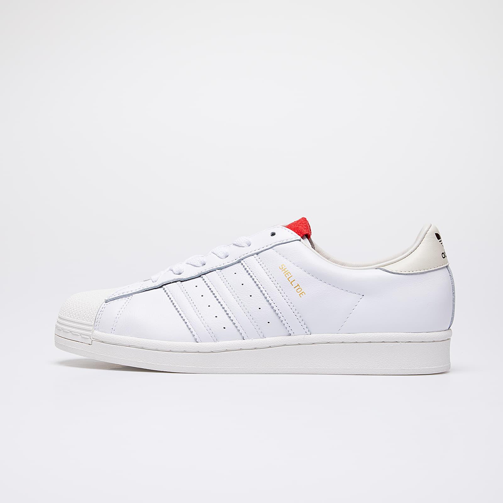Men's shoes adidas x 424 Shelltoe Core White/ Core White/ Scarlet