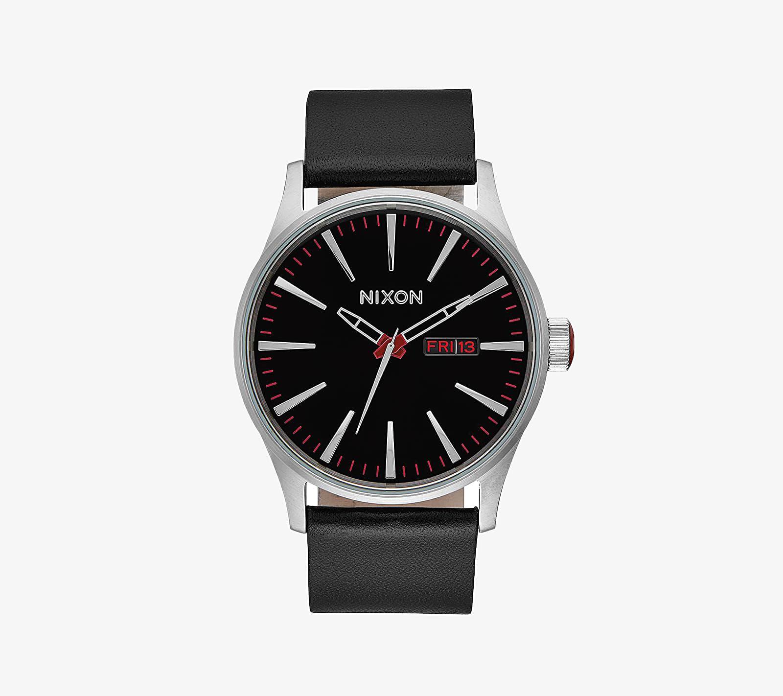 Nixon Sentry Leather Watch Black univerzální