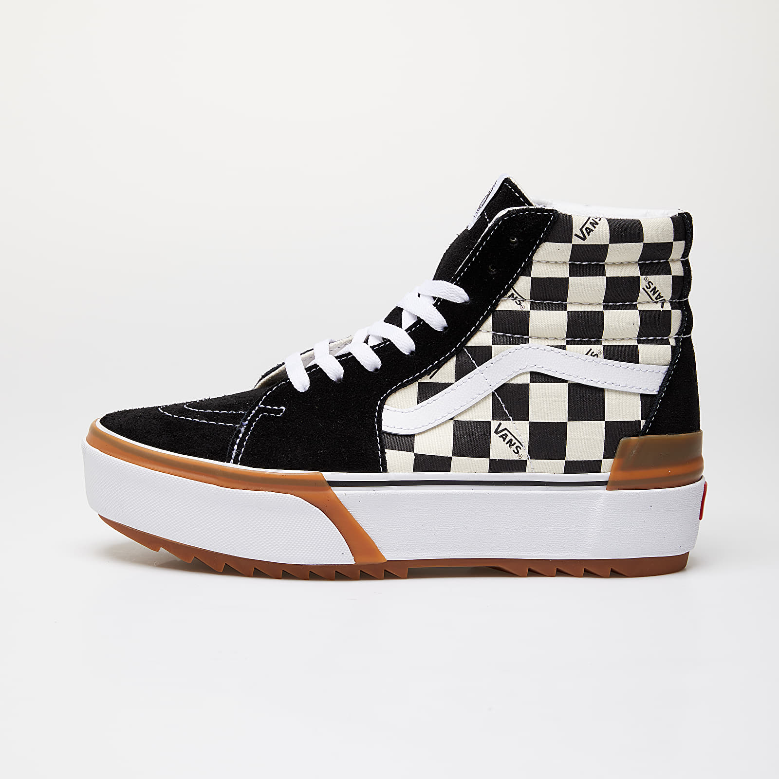 Vans Sk8 Hi Stacked (Checkerboard) Checkerboard True White | Footshop