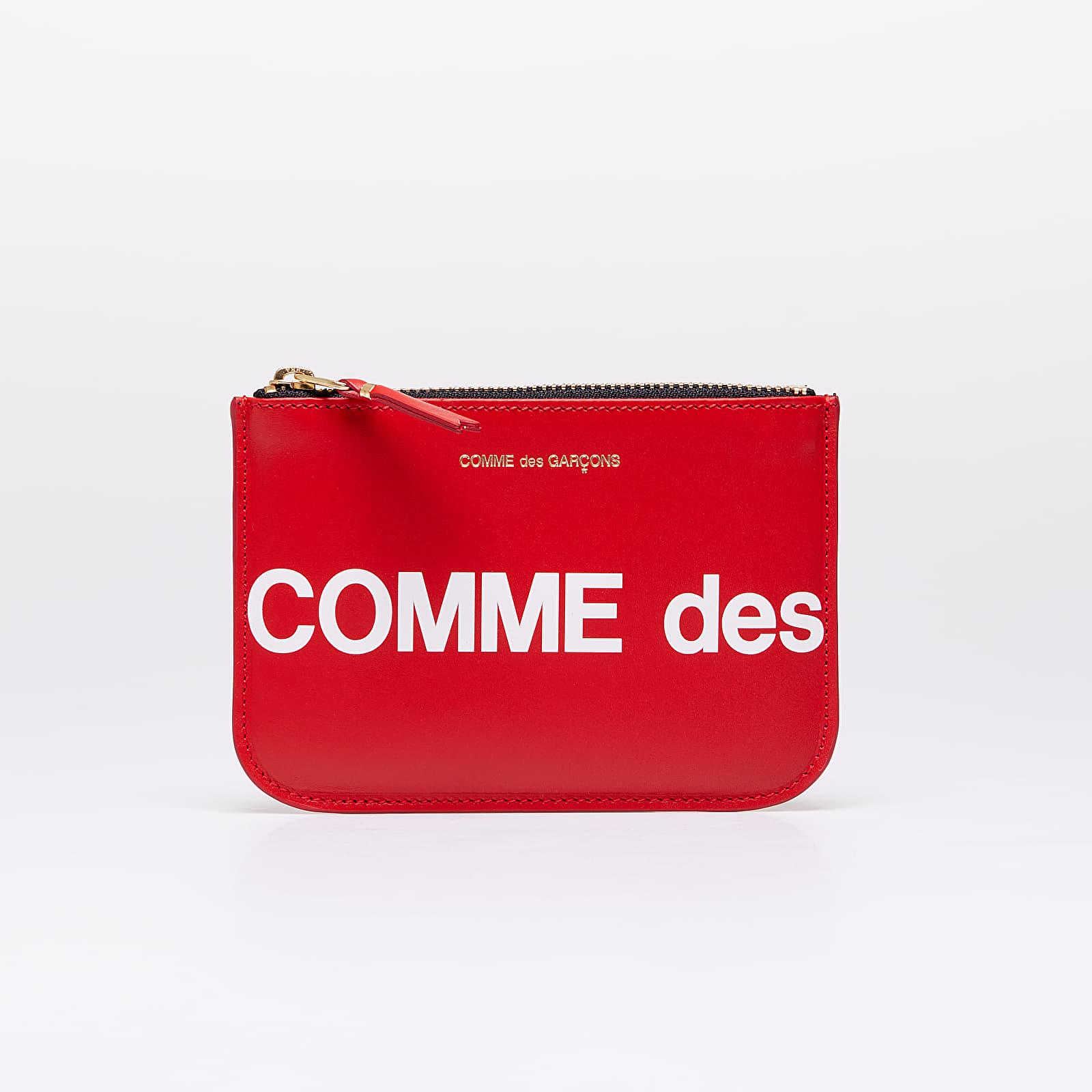 Peňaženky Comme des Garçons Huge Logo Wallet Red