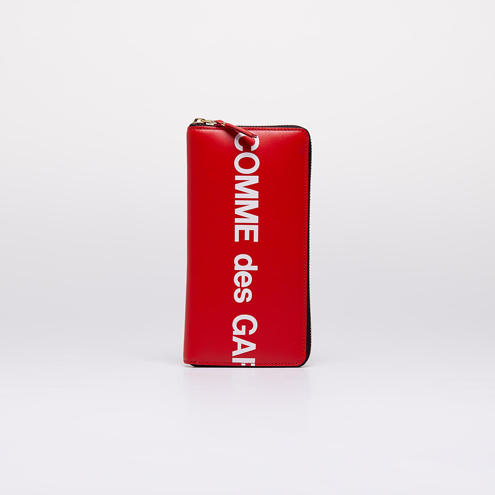 Portafogli Comme des Garçons Huge Logo Wallet Red