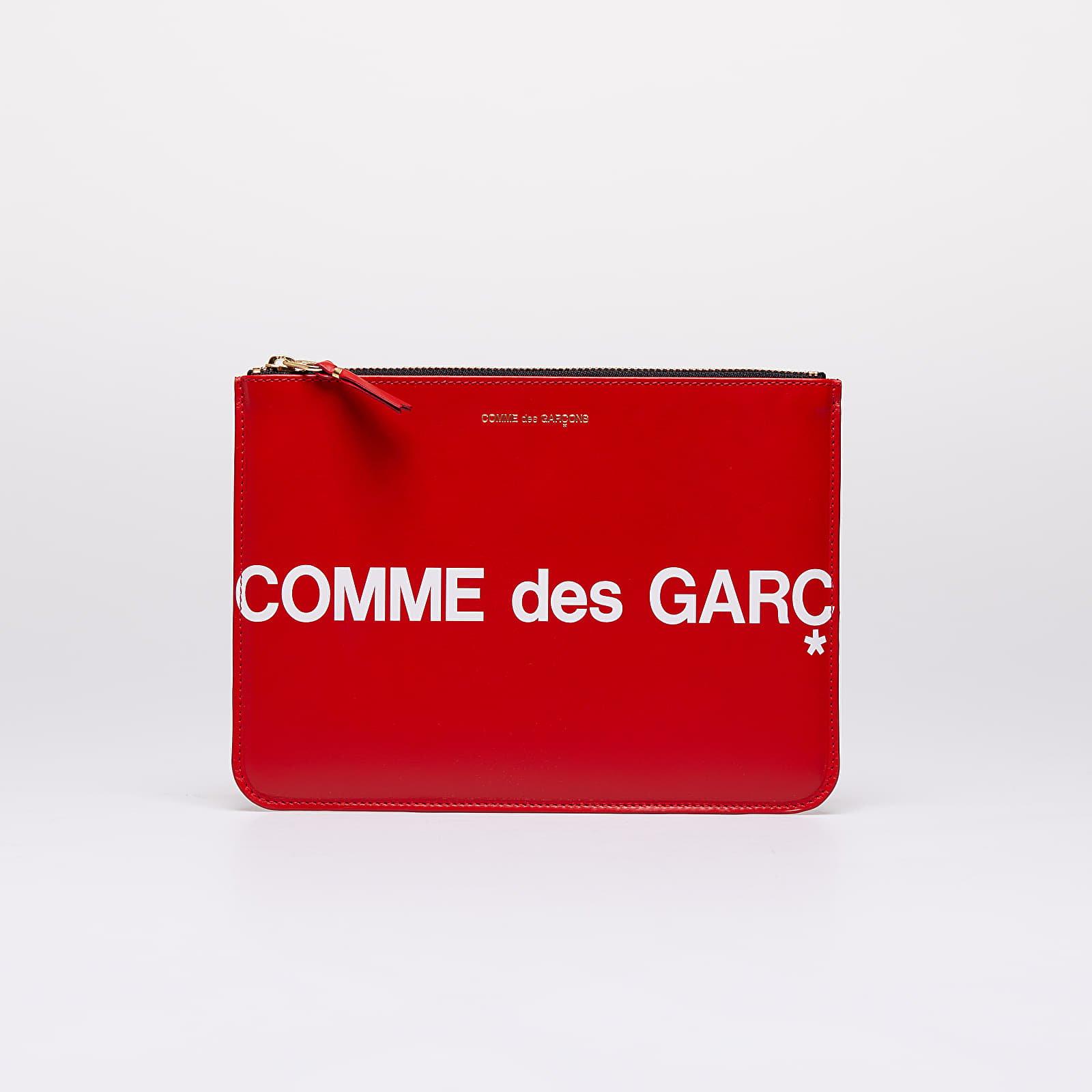 Wallets Comme des Garçons Huge Logo Wallet Red