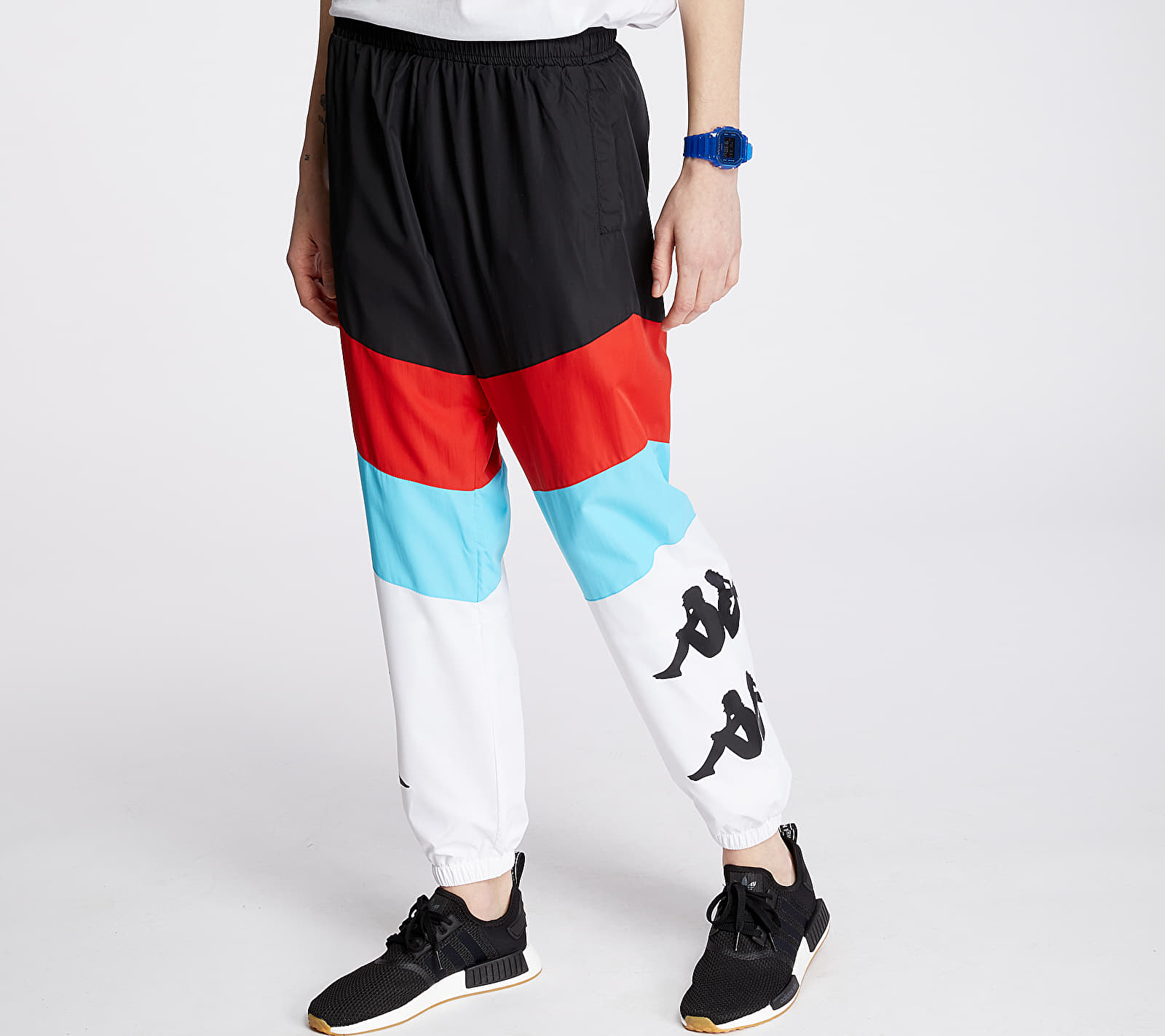 Kappa Authentic Race Clovy Pants Black/ Red/ Turq/ White, Multicolour