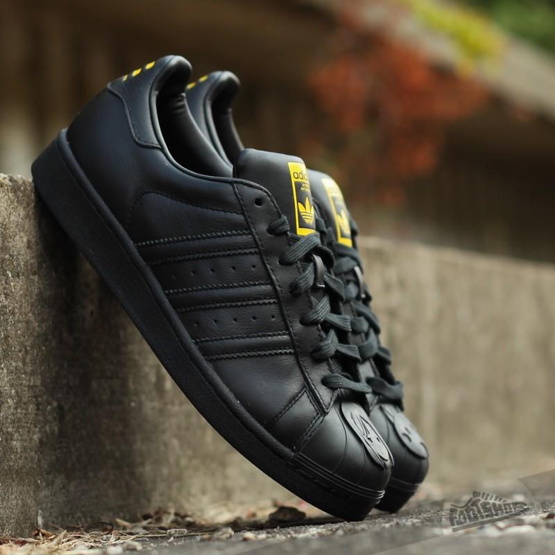 06cfa62f6f5 adidas Superstar Pharrell Supersh Carbon Black  Carbon Black  Yellow