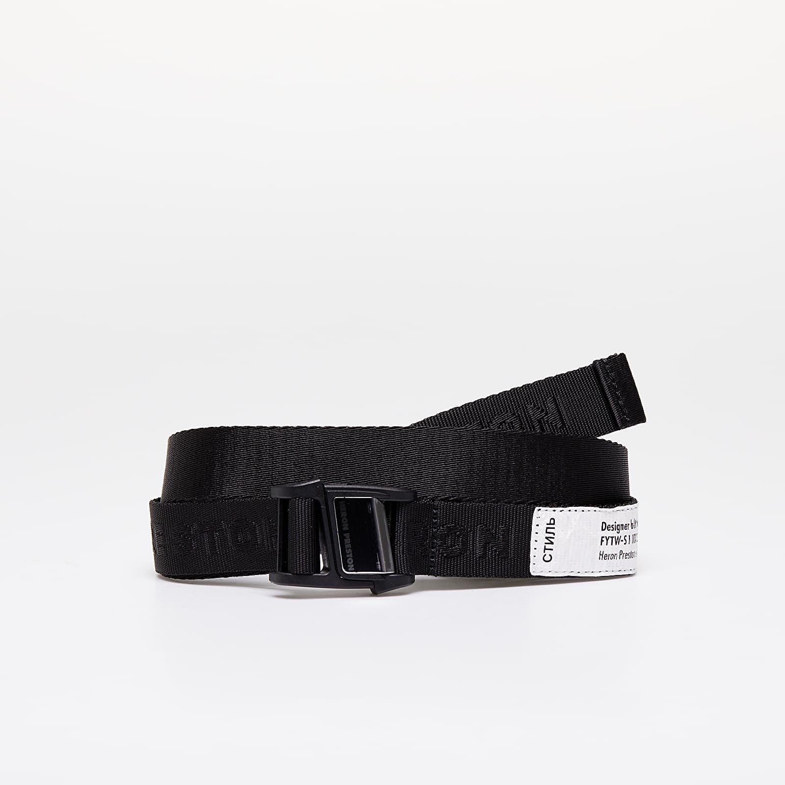 Belts HERON PRESTON Tiny Tape Magnetic Belt Black