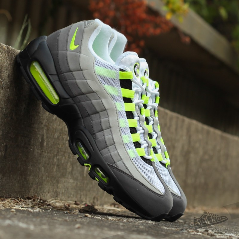 a11e7b5b493a Nike Air Max 95 OG Black  Volt- Medium Ash- Dark Powter