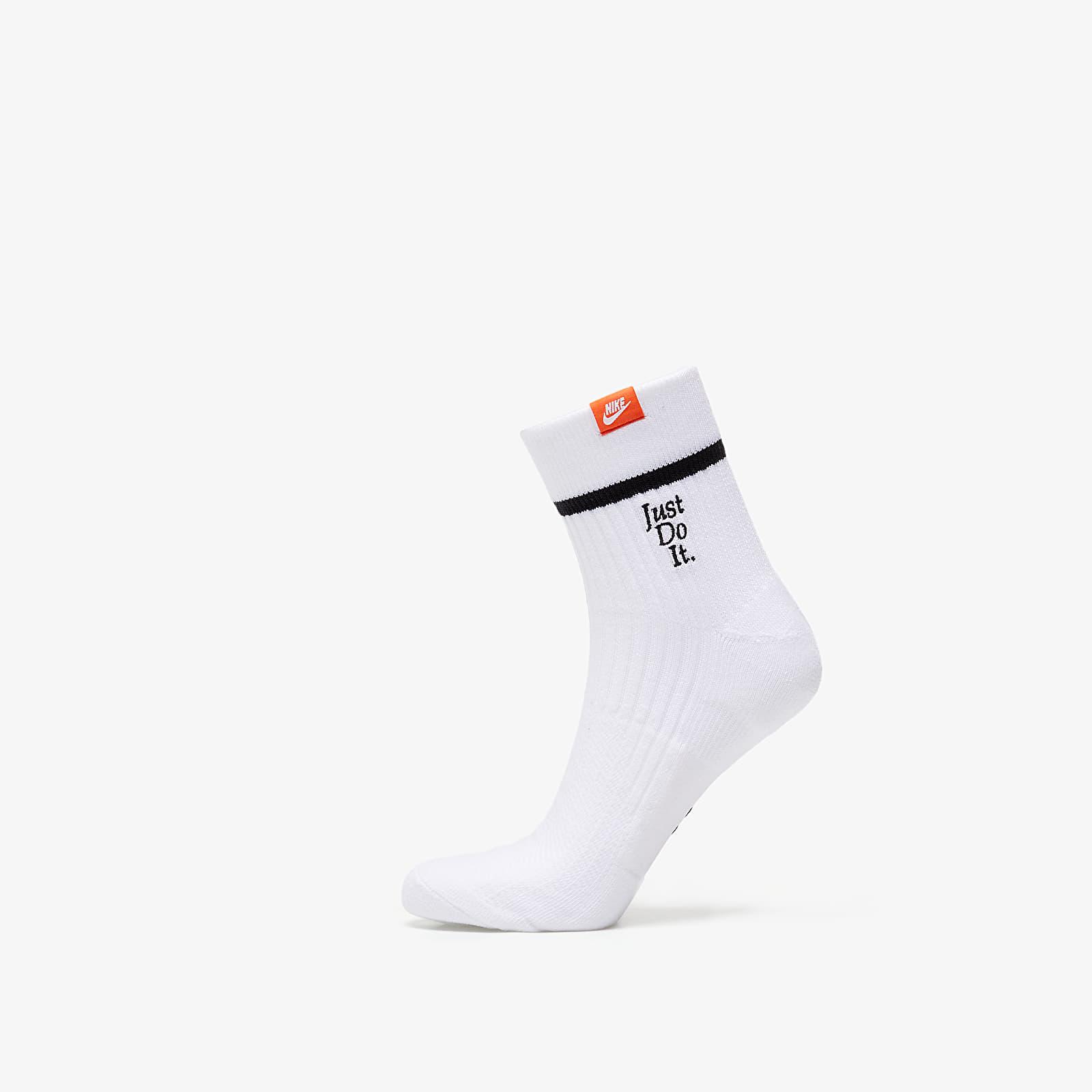 Ponožky Nike Sneaker 2 Pair Ankle Sox White/ Black/ White