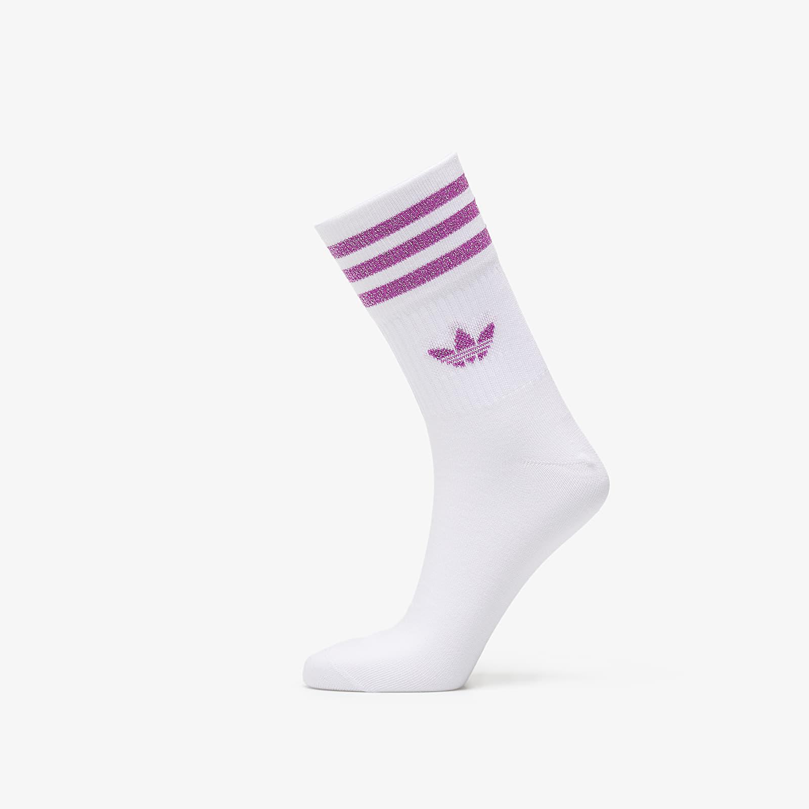 Socks adidas Mid Cut Glitter Socks White/ White