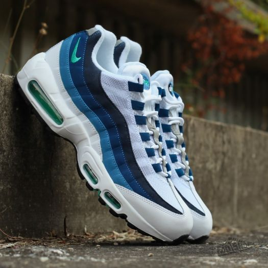 more photos 5c150 faa94 Nike Air Max 95 OG White/ Emerald Green- CRT Black- New ...