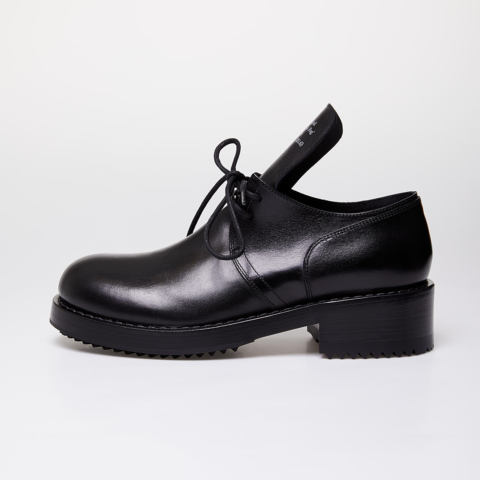 Férfi cipők Raf Simons Laced Up Shoe Men Black Cow Leather