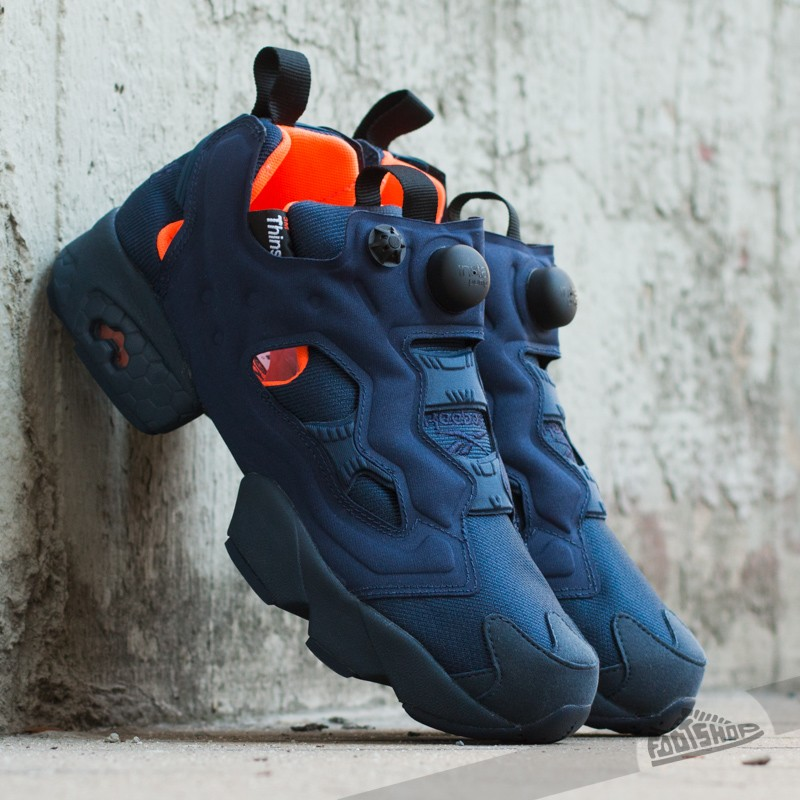 453ff7b6b9fd Reebok Instapump Fury Tech Collegiate Navy Solar Orange White ...