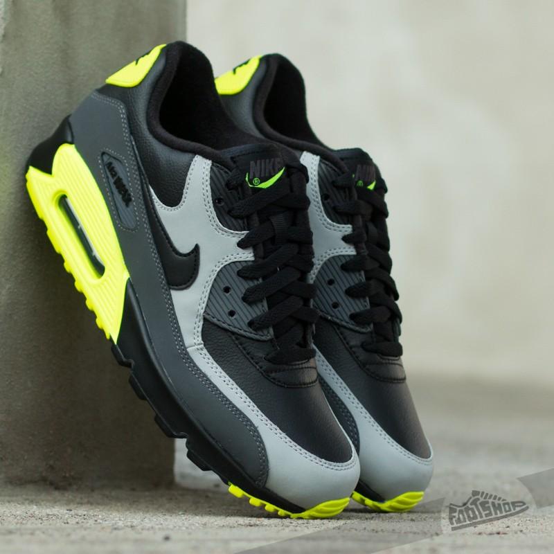 Nike Air Max 90 Black Volt Dark Grey
