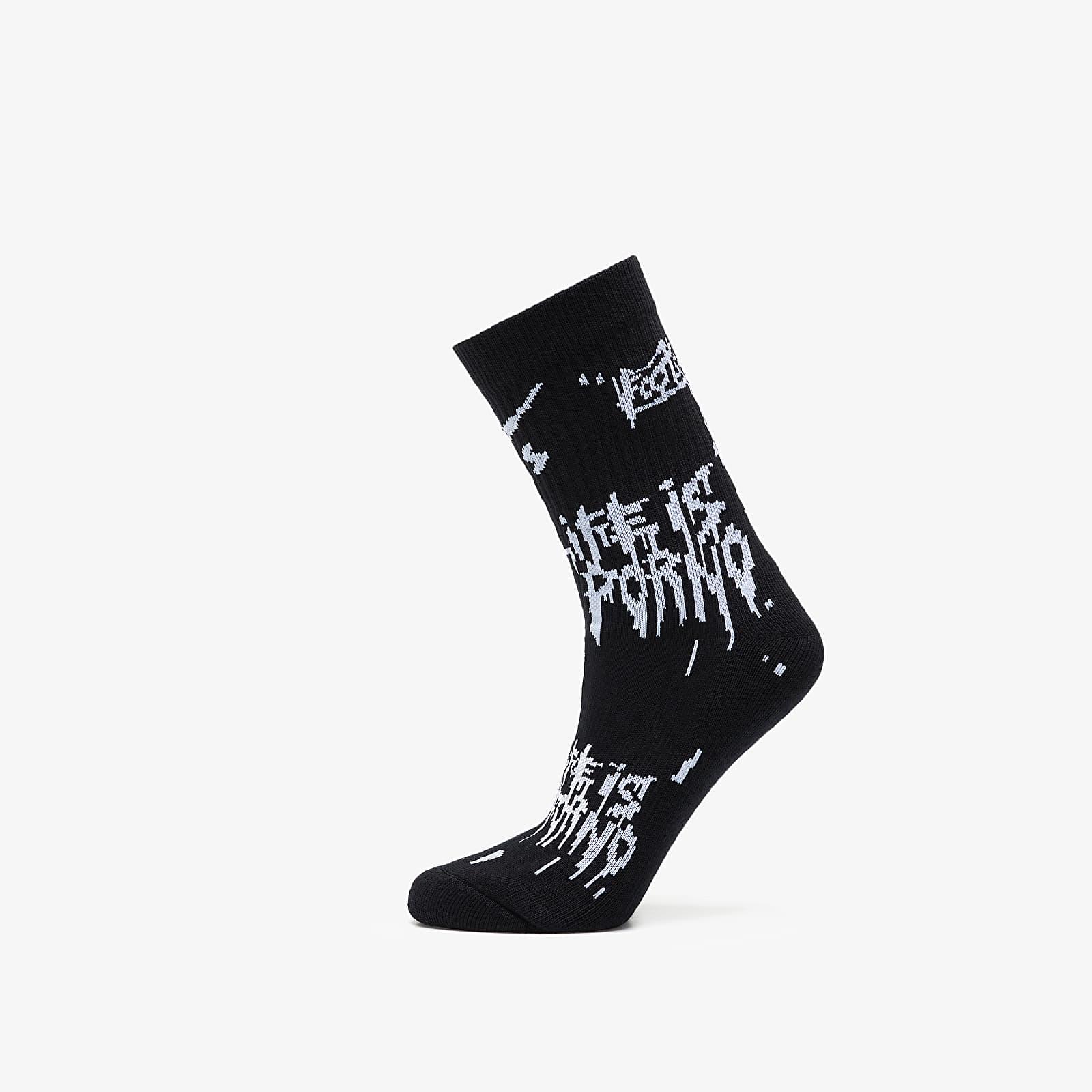 Socken LIFE IS PORNO xxx Footshop Sox Black