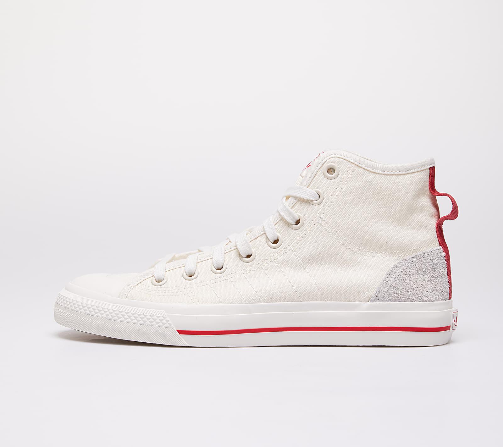 adidas Nizza Hi Rf Off White/ Glow Red/ Gum44 EUR 47 1/3