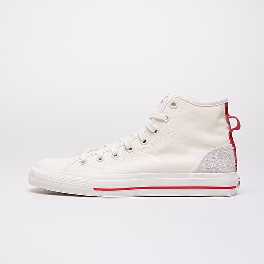 Marco Polo Prestador Mira  Men's shoes adidas Nizza Hi Rf Off White/ Glow Red/ Gum44 | Footshop