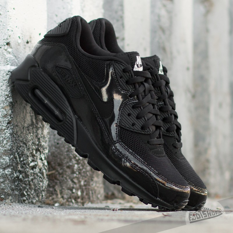 new product f49d6 98f6b Nike Wmns Air Max 90 Premium Black  Black- Metallic Silver